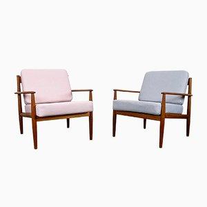 Mid-Century Danish Teak Lounge Chair by Grete Jalk for France & Søn, 1960s, Set of 2