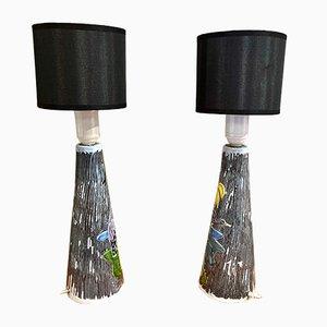Lampes de Bureau Scandinaves en Céramique, 1960s, Set de 2