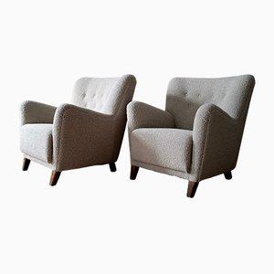 Danish Lounge Chairs, 1940s, Set of 2