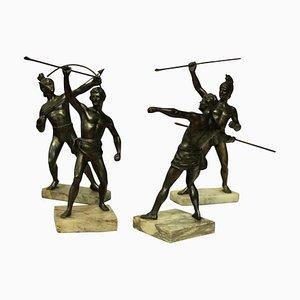 Antique Greek & Trojan Warriors, Set of 4