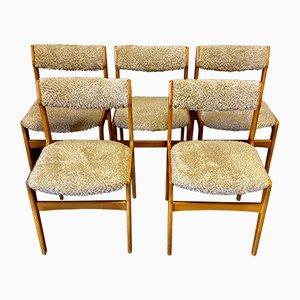 Skandinavische Esszimmerstühle, 1950er, 5er Set