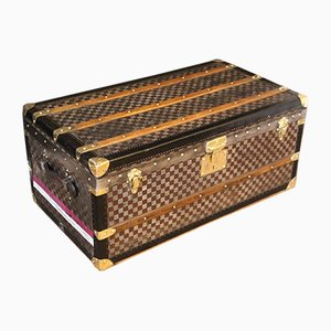 Steamer Trunk with Checkers Pattern from Moynat