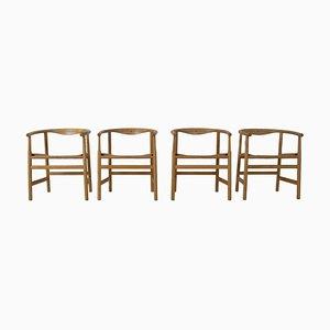 PP203 Esszimmerstühle von Hans J. Wegner für PP Møbler, Dänemark, 1970er, 4er Set