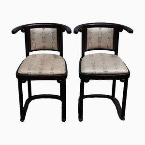 Jugendstil Sessel von Josef Hoffmann für Wittmann, 2er Set