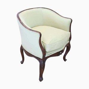 Solid Walnut Armchair, 1920s