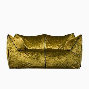 Le Bambole Green Velvet Sofa by Mario Bellini, 1972