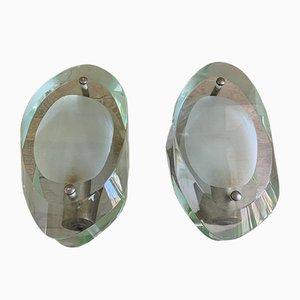 Modell 2093 Wandlampen von Max Ingrand für Fontana Arte, Italien, 1960er, 2er Set