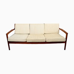 Model USA 75 3-Seat Sofa in Solid Teak by Folke Ohlsson for Dux, 1960s