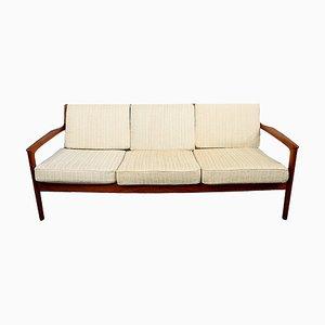 Modell USA 75 3-Sitzer Sofa aus Massivem Teakholz von Folke Ohlsson für Dux, 1960er