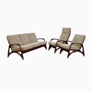 Niederländische Sessel und 3-Sitzer Sofa aus Teak von De Ster Gelderland, 1960er, 2er Set