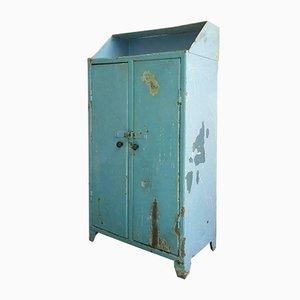 Industrial Light Blue Steel Cabinet