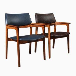 Dänischer Mid-Century Stuhl aus Palisander & Leder