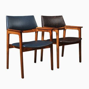 Mid-Century Danish Rosewood and Leather Chair