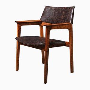 Dänischer Mid-Century Armlehnstuhl aus Palisander und Leder