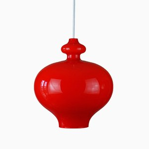 Lampe à Suspension Oplight 62 Vintage en Verre par Hans Agne Jakobsson pour AB Markaryd / Flygsfors de Sweden