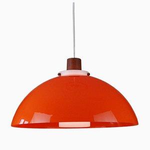 Pendant Lamp by Uno & Östen Kristiansson for Luxus, Vittsjö, Sweden, 1960s