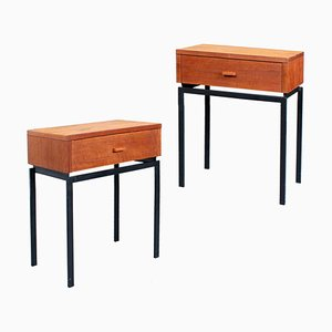 Mid-Century Teak Nightstands by Auping, 1960s, Set of 2