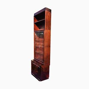 Scandinavian Mahogany Shelf with Glass Doors from Nordiska Kompaniet, 1960s