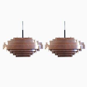 Deckenlampen von Hans Følsgaard Elektro A / S, 1960er, 2er Set