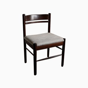 Mid-Century Modern Solid Wengé Dining Chairs, Set of 4