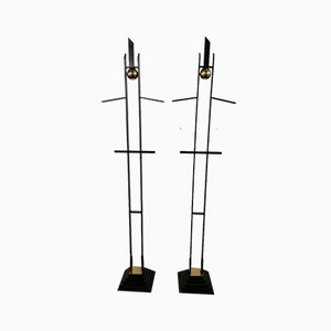Mid-Century Italian Sculptures or Valet Stands in Metal and Brass, Set of 2