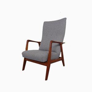 Verstellbarer Armlehnstuhl aus Teak, Dänemark, 1960er