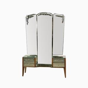Vintage Triptych Vanity Mirror, 1950s