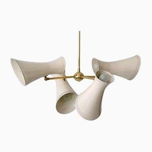 Mid-Century Modern 8-Light Sputnik Chandelier or Pendant Lamp, 1950s