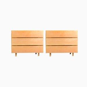 Deutsche Mid-Century Sideboards aus Buche von Georg Schoettle, 1960, 2er Set