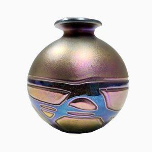 Mid-Century Opalescent Vase from Mdina Glass Malta
