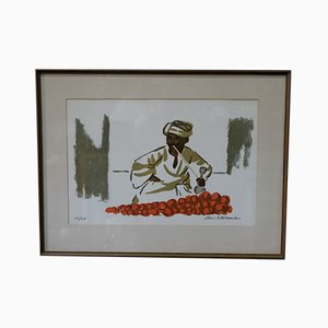 Modern Hand Signed Lithograph by Lars Norrman, 1970s