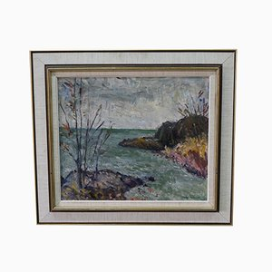 Alexander Roos, Swedish Expressionist Painting, 1947, Oil on Panel