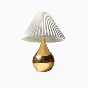 Gold Plated Teardrop Table Lamp by Hugo Asmussen, 1960s