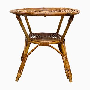Rattan Coffee or Cocktail Table, Italy, 1960s