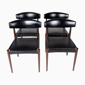 Dänische Palisander Esszimmerstühle, 1965, 4er Set