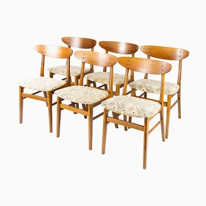 Danish Teak Dining Room Chairs, 1960s, Set of 6