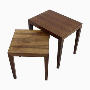Palisander Side Tables by Severin Hansen, Denmark, 1960s, Set of 2