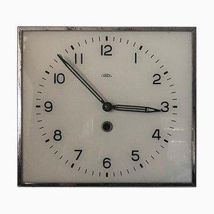 Czechoslovakian Square Wall Clock