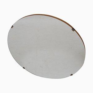 Mid-Century Wall Round Mirror, Czechoslovakia, 1970s