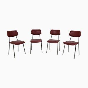 Czechoslovakian Chairs, 1970s, Set of 4