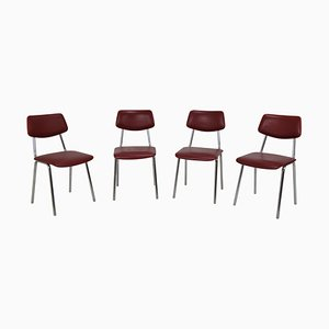 Tschechoslowakische Stühle, 1970er, 4er Set