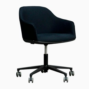 Softshell Swivel Chair with Black Upholstery from Vitra