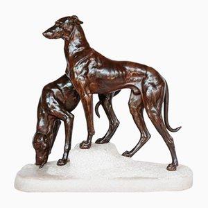 Greyhounds on a Rocky Base