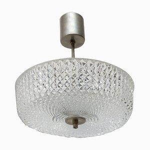 Vintage Opaline Glass Pendant Lamp, Czechoslovakia, 1970s
