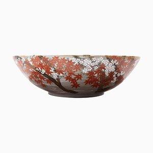 Cuenco japonés de cerámica pintado a mano