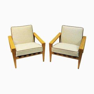 Swedish Oak Lounge Chairs by Svante Skogh, 1957, Set of 2