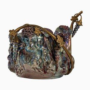 Art Nouveau Iridescent Stoneware Art Object