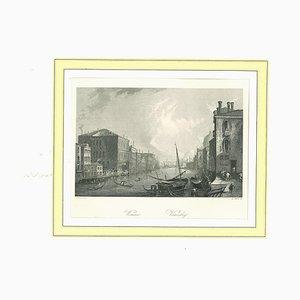 Lithographie Originale sur Papier, 19ème Siècle, Italie