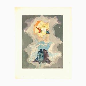 Salvador Dalí, Cacciaguidas Geschichtsstunde, Original Holzschnitt, 1963