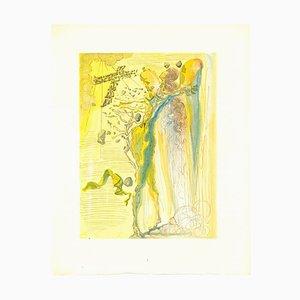 Salvador Dalí, The Apparition of Dante's Grandfather, Original Woodcut, 1963